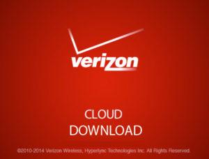 Verizon cloud download