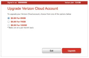 Verizon cloud sign in