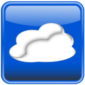Cloud computing button glossy